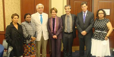Congresswoman Pelosi stands with the 2013 Goldman Environmental Prize recipients and celebrates their efforts to protect and enhance the natural environment across the world.