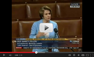 Congresswoman Pelosi speaks on the House Floor to commemorate the six-month anniversary of the tragic shooting at Sandy Hook Elementary in Newtown, CT.