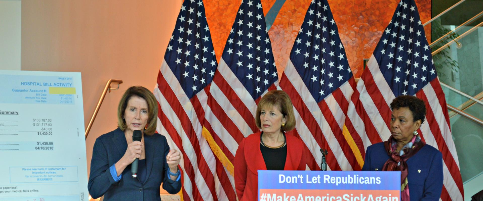 Congresswomen Nancy Pelosi, Jackie Speier, and Barbara Lee join health care providers and Bay Area residents for a press conference on the harmful impact of Republicans' plans to dismantle the Affordable Care Act (ACA) and Make America Sick Again.  The AC