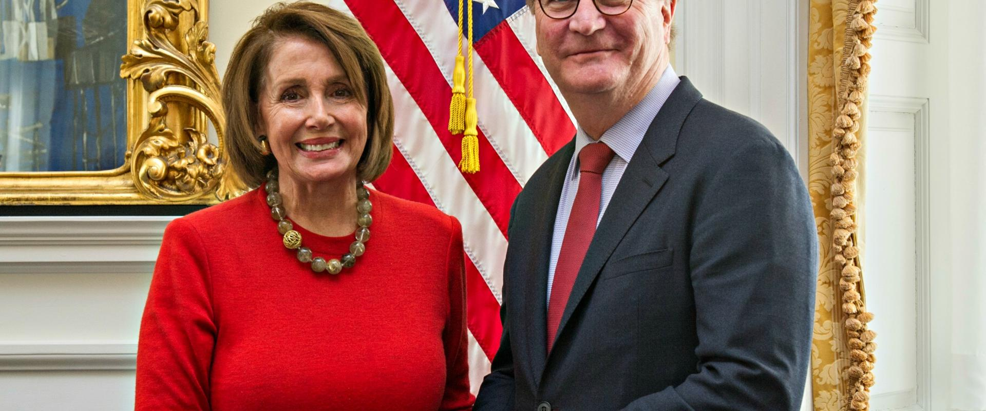 Congresswoman Pelosi meets with University of California, San Francisco Chancellor Sam Hawgood and senior UCSF officials to discuss federal investments in scientific research, breakthrough medical research at UCSF  on precision medicine, and Vice Presiden