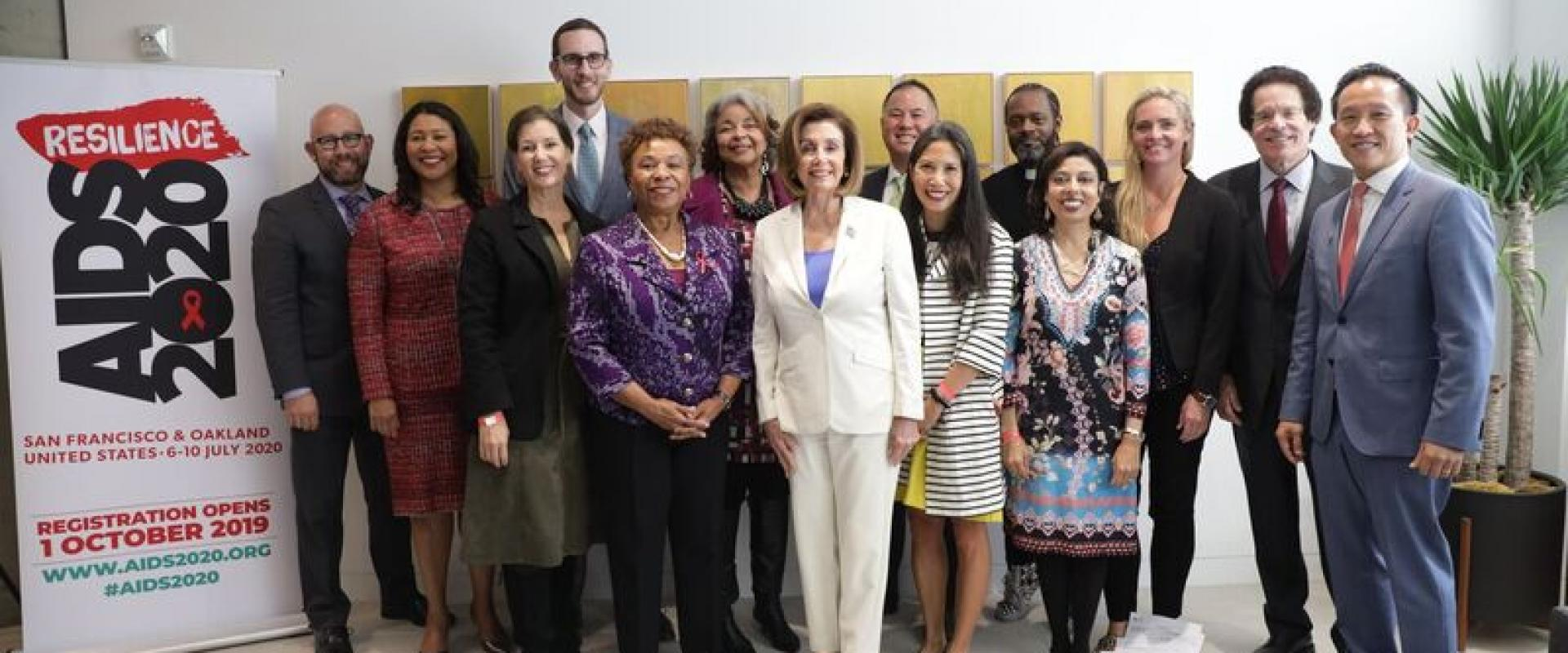 "Congresswomen Nancy Pelosi and Barbara Lee join state and local leaders to kick off the 23rd Annual International AIDS Conference, ""Resilience,"" which will take place June 2020 in San Francisco and Oakland. The Conference, coming back to the Bay Area for"