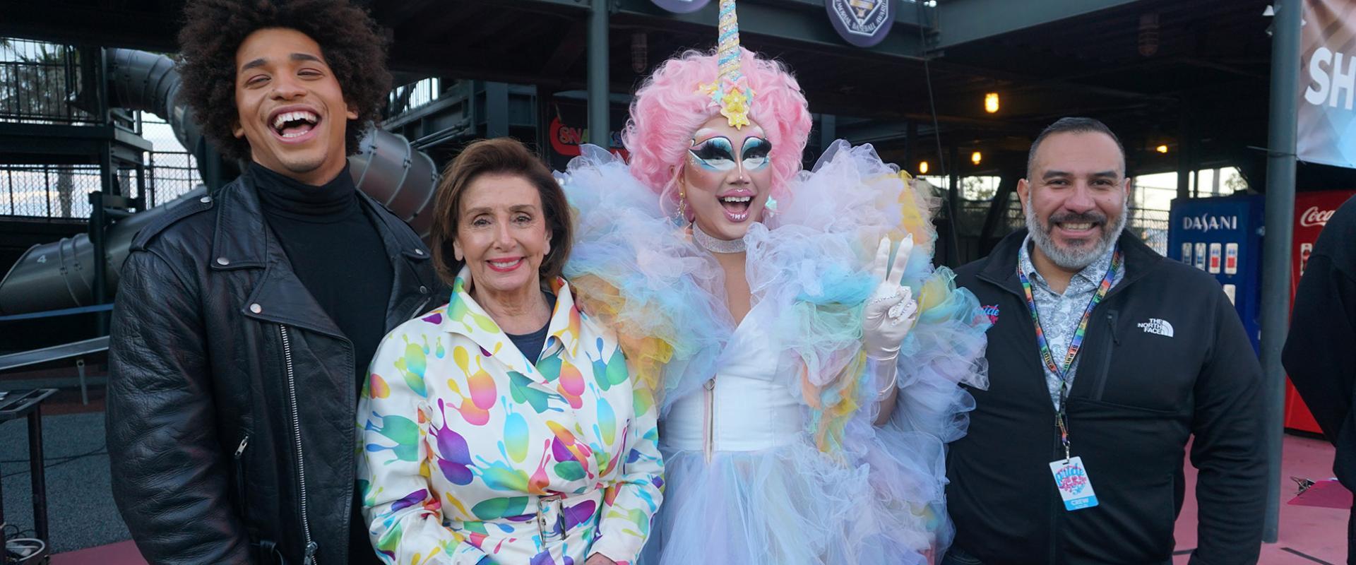 Congresswoman Nancy Pelosi celebrates San Francisco Pride at Oracle Park