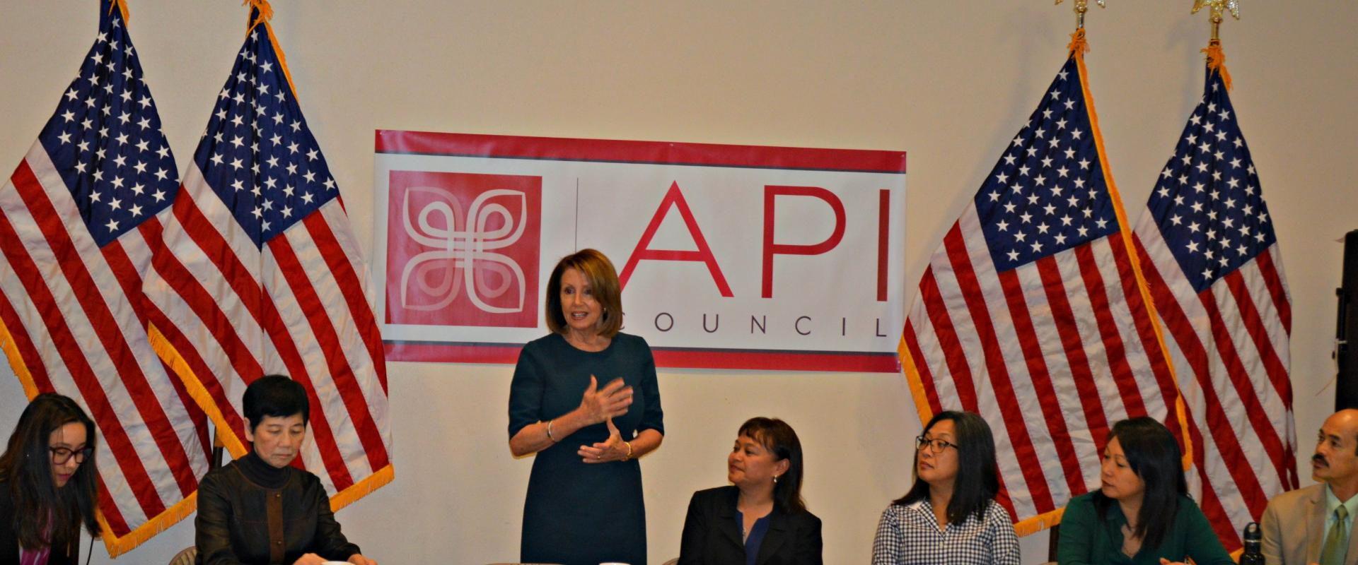 Congresswoman Pelosi holds a roundtable discussion with the San Francisco Asian Pacific Islander Council to hear from leaders in the Asian American Pacific Islander Community.