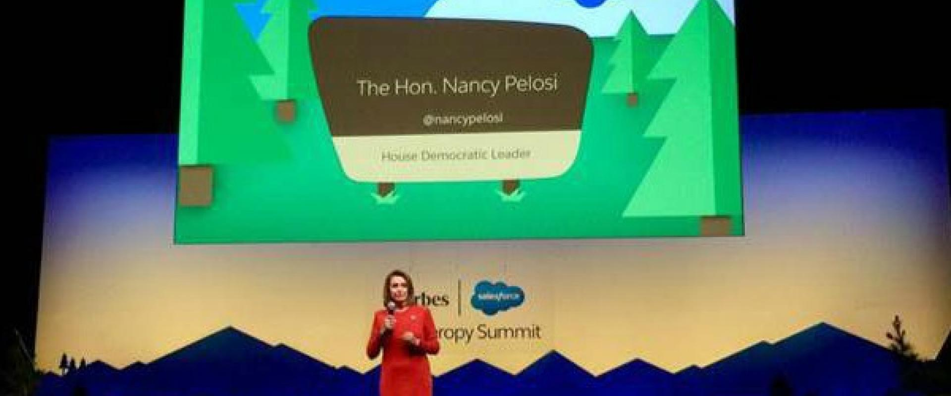 Congresswoman Pelosi delivered remarks on the global fight against HIV/AIDS at the Dreamforce Summit in San Francisco, stating that bold progress requires bold leadership.