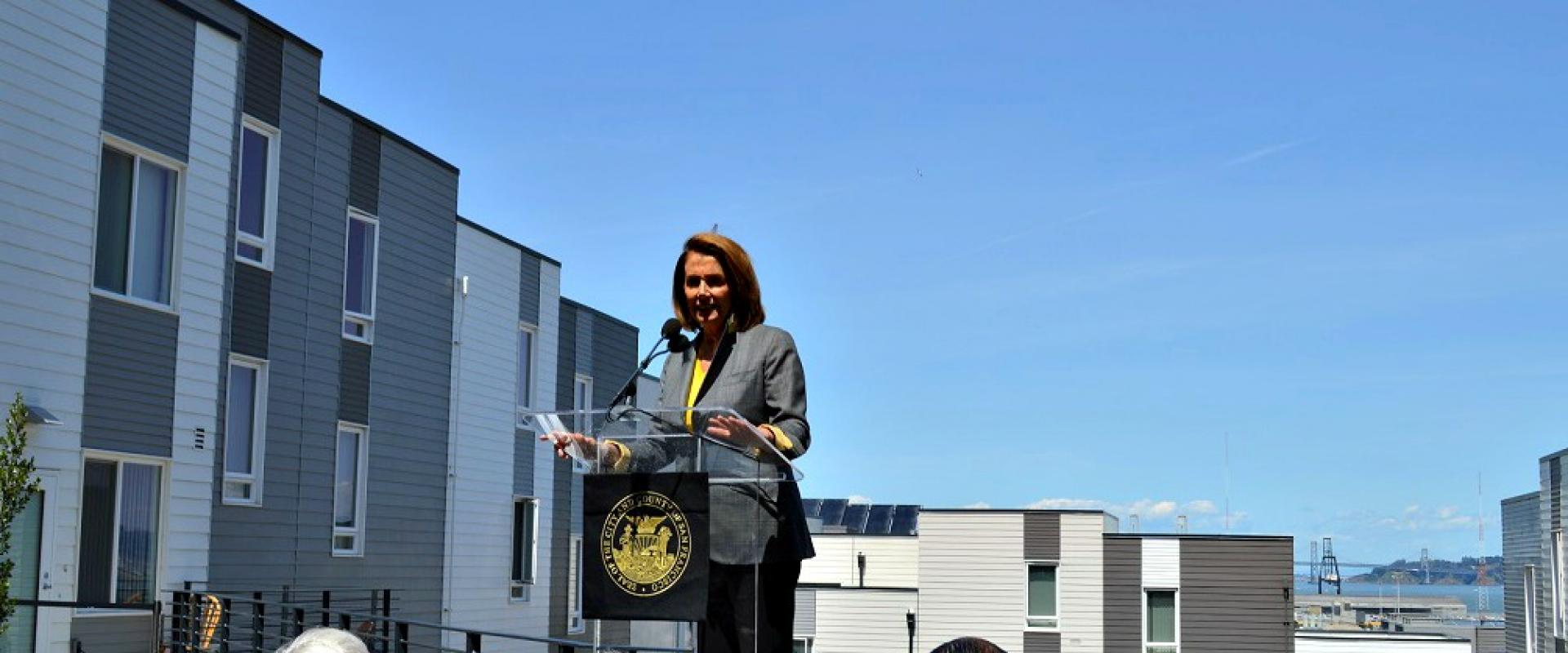 Congresswoman Pelosi joins Mayor Ed Lee, Board of Supervisors President London Breed, Supervisor Malia Cohen, and the Hunters View Community as they celebrate the ongoing revitalization of Hunters View, where all former residents who wished to stay are li