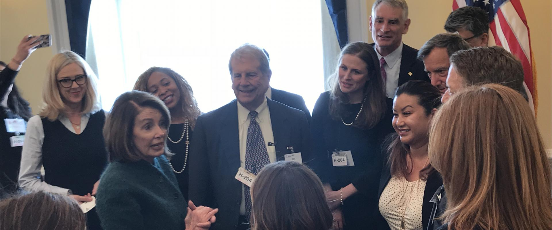 Congresswoman Pelosi meets with members of San Francisco Chamber of Commerce where they discussed the investments the successes she secured in the omnibus funding bill to combat homelessness, create affordable housing, and protect transportation investmen
