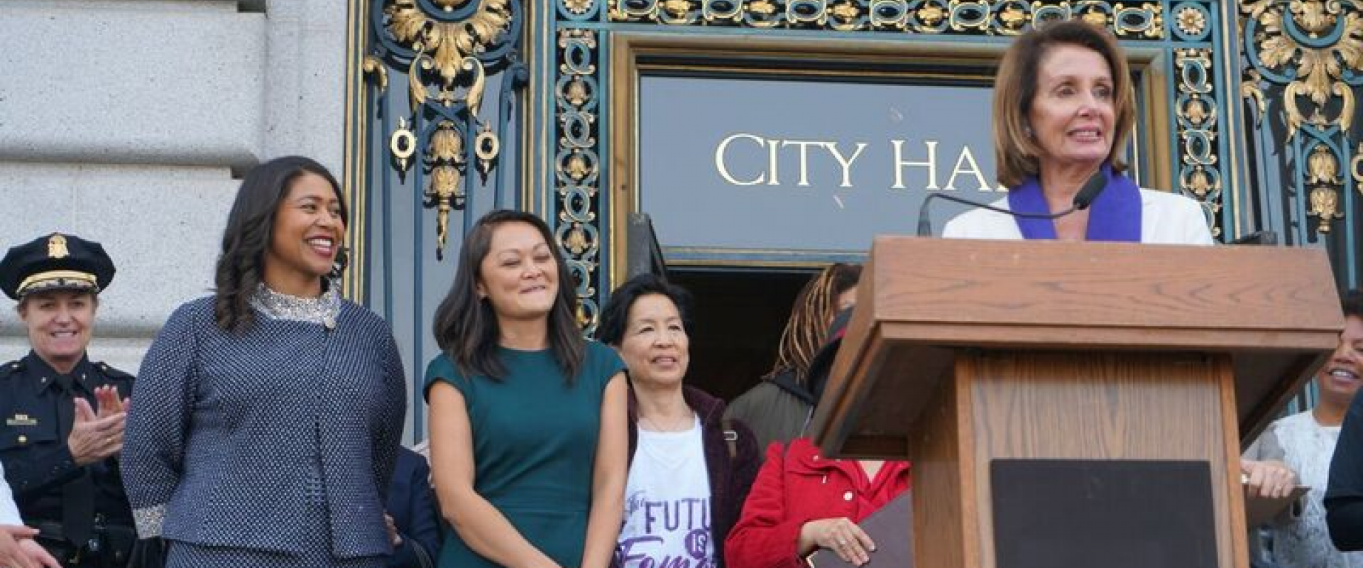 Congresswomen Pelosi joined Mayor London Breed, Assessor-Recorder Carmen Chu, and local women leaders for the Women's Equality Day 'W Challenge' kick-off to unite women from across sectors and the political spectrum to expand voter participation, as we co