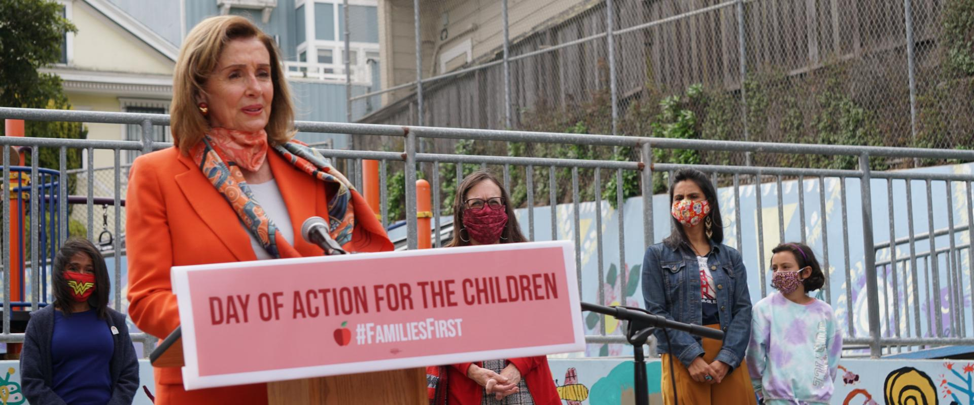 Congresswoman Nancy Pelosi joined San Francisco educators and leaders at Mission Education Center Elementary School to highlight the impact of the pandemic on children and families;  underscoring the urgent need for the Senate to pass the Heroes Act, whic