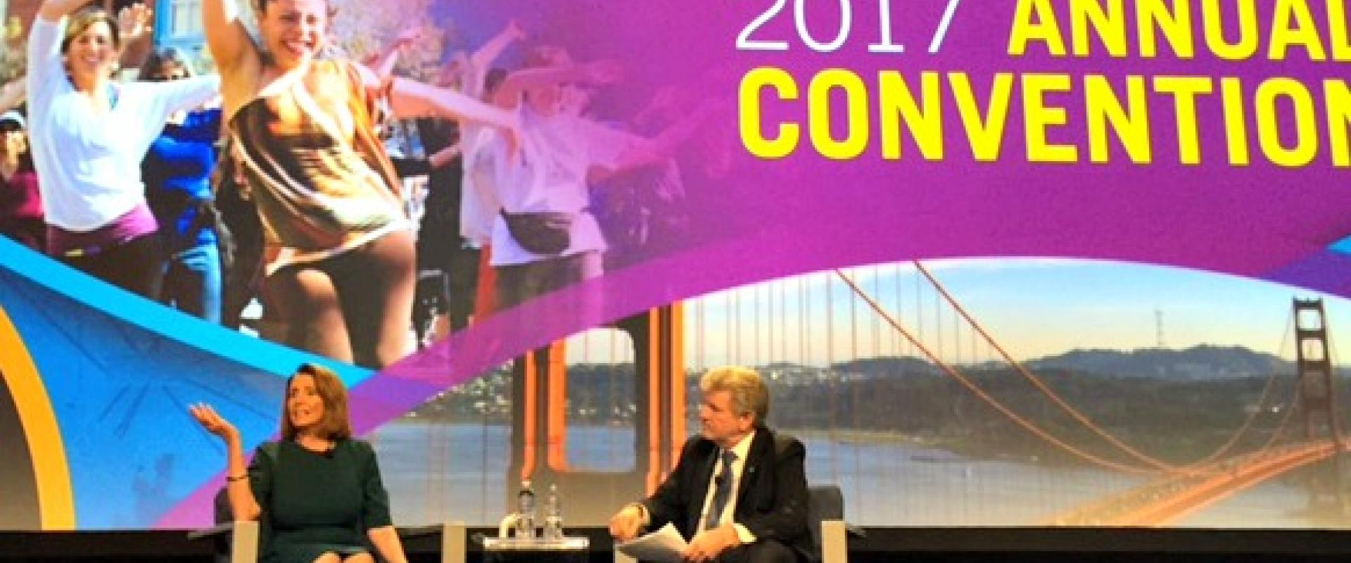 Congresswoman Pelosi joins President Bob Lynch at the 2017 Americans for the Arts Annual Convention discussing the importance of investing in the arts for our schools, communities and economy.