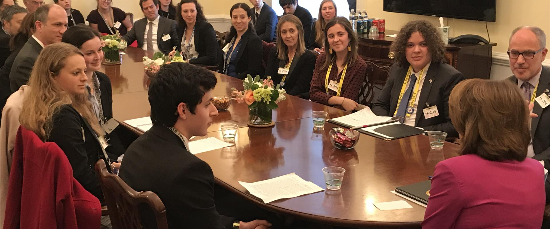 Congresswoman Pelosi meets with San Franciscans in town for the AIPAC conference where they discussed efforts to support and strengthen the US-Israel relationship and the importance of foreign aid.