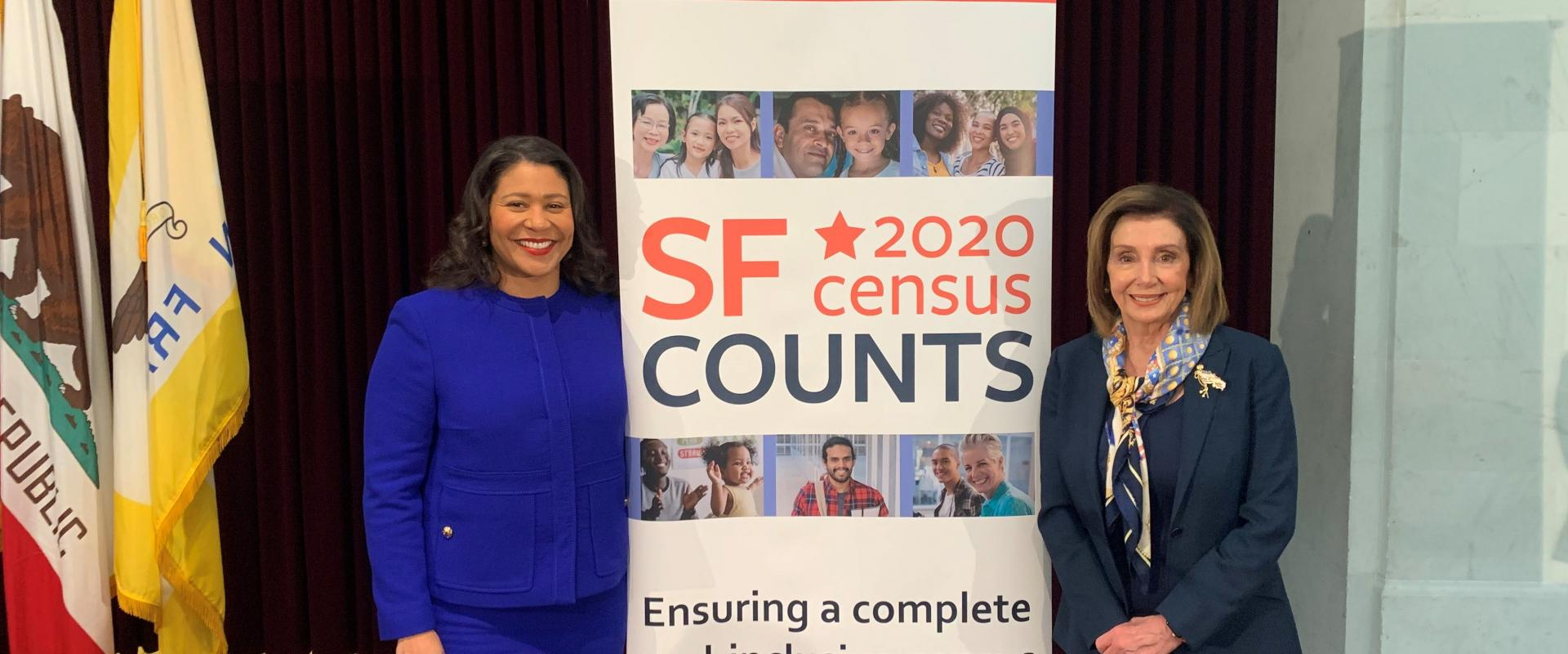 Congresswoman Nancy Pelosi joined Mayor London Breed and San Francisco city officials to kickoff outreach efforts by local community organizations in advance of the upcoming census.
