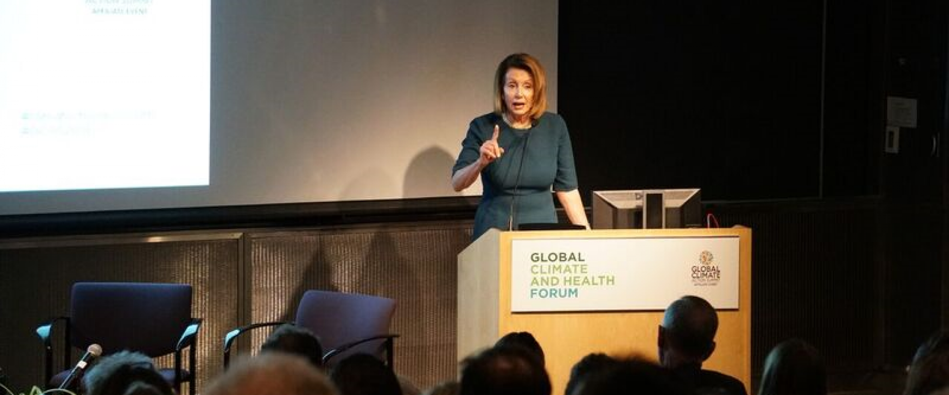Congresswoman Pelosi delivers remarks at the Global Climate and Health Forum at UCSF to discuss harnessing the will, talent and ambition of the public health community to tackle the global climate crisis to safeguard public health, avert environmental cat
