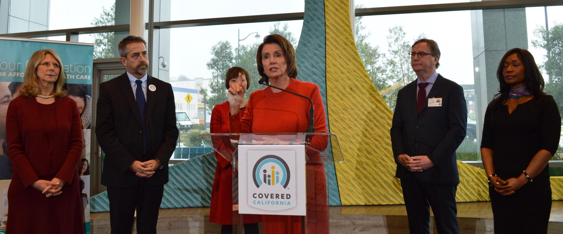 Congresswoman Pelosi joins patients, providers, and health officials at UCSF Mission Bay to unveil data on the Affordable Care Act's success at delivering care to Covered California enrollees in more than 100 of the best hospitals across California.