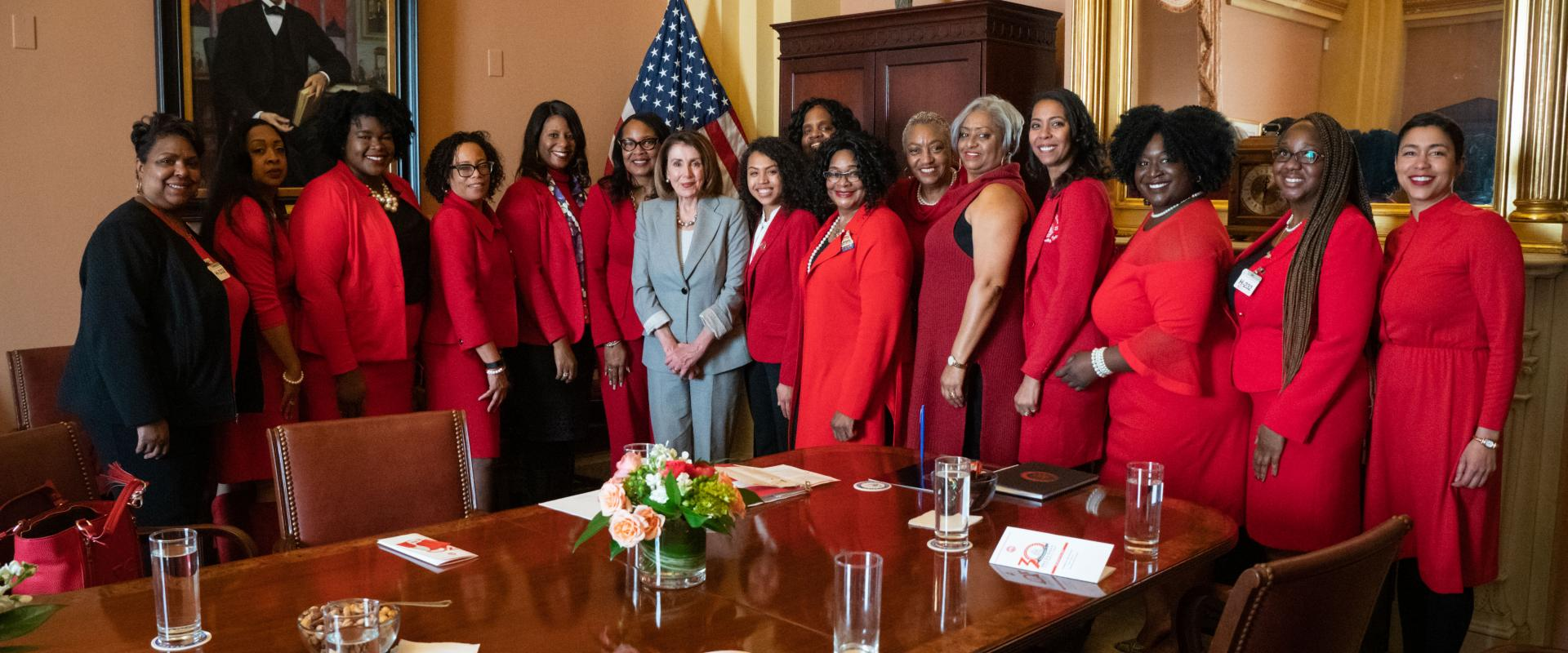 Congresswoman Pelosi meets with the women of Delta Sigma Theta from the Bay Area, who made their 30th annual trip to Capitol Hill to share their priorities with Members of Congress.