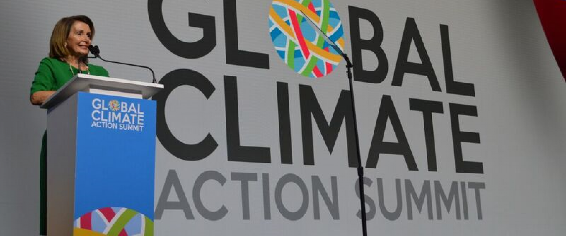 Congresswoman Pelosi joins Governor Brown, Mayor Bloomberg, and thousands of elected officials and environmental advocates from around the world at the Global Climate Action Summit Conference to discuss the urgent need to confront climate change, one of t