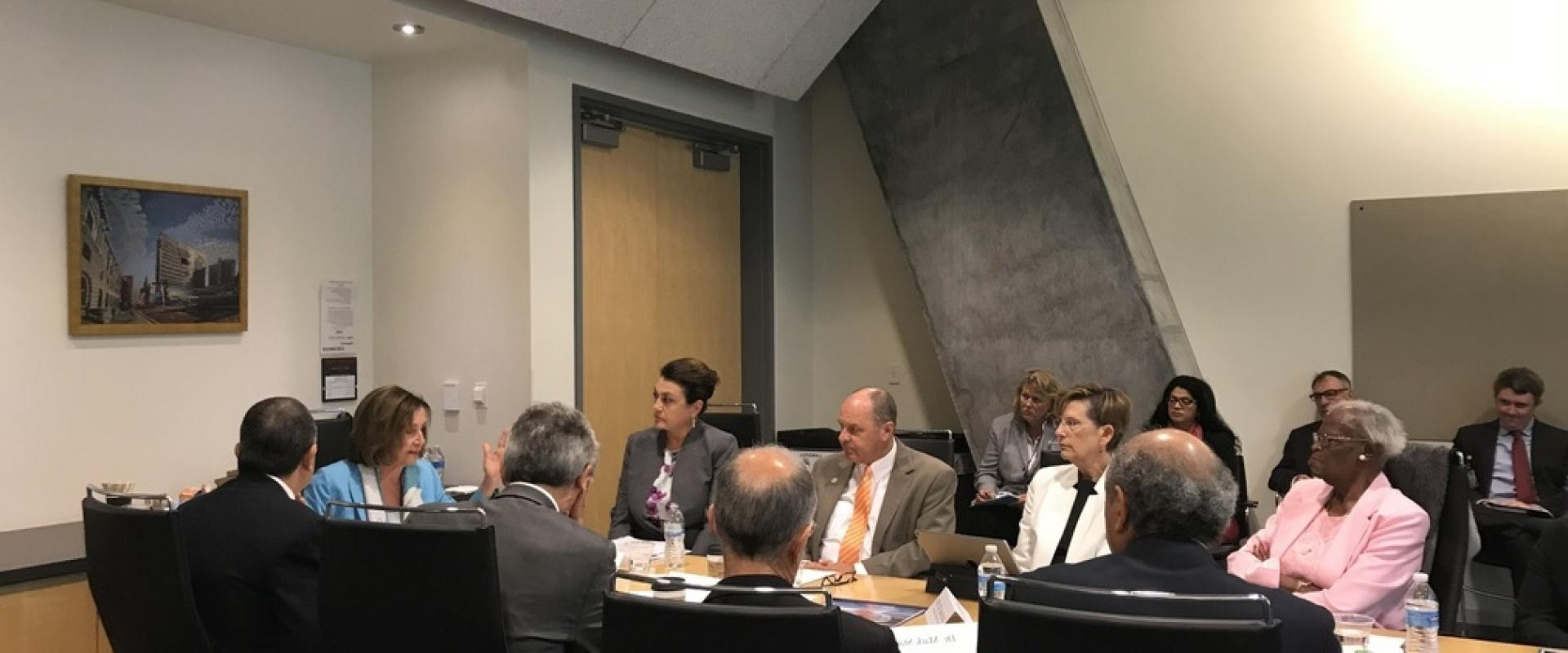 Congresswoman Pelosi called for an immediate investigation by the Navy and EPA Inspectors General and an urgent briefing on the status of the Hunters Point clean-up and re-testing. On July 31st, Pelosi met with representatives from the Navy, EPA, CA Depar