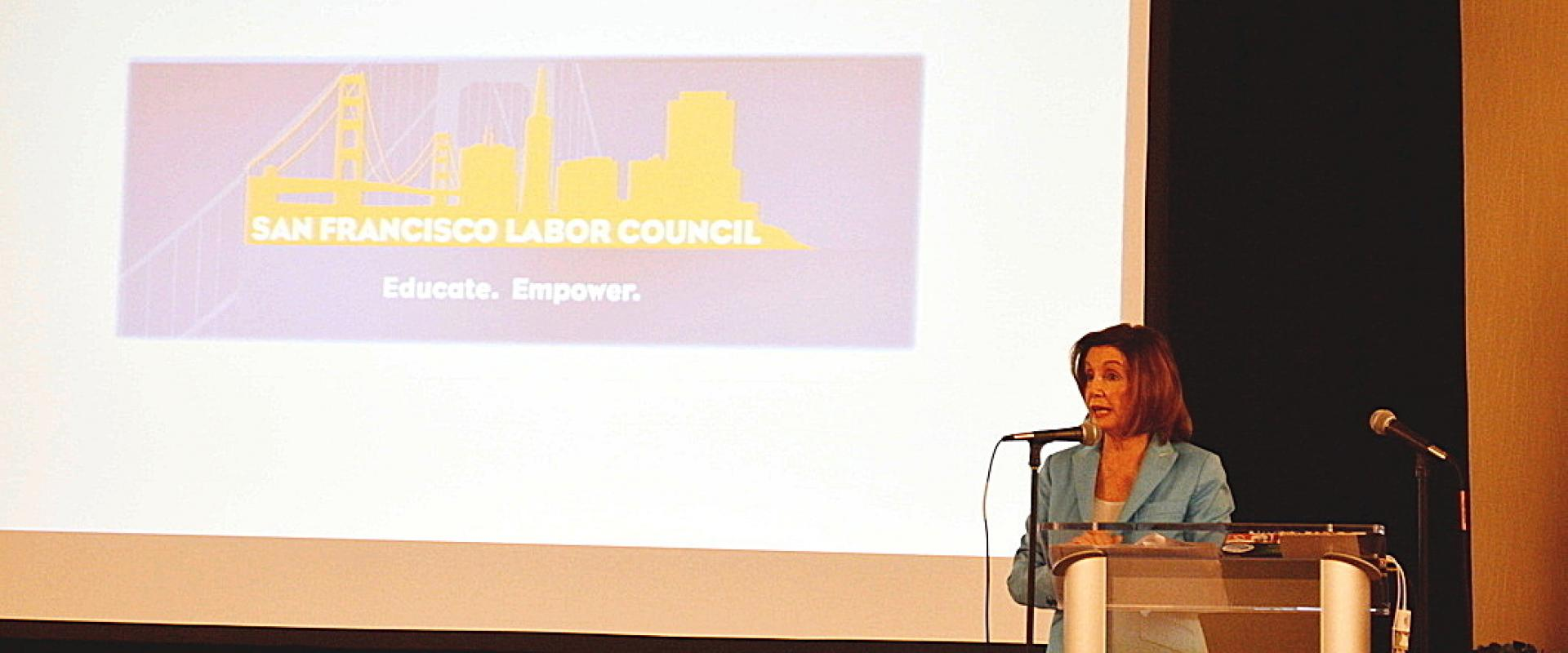 Congresswoman Pelosi joined local labor leaders at the San Francisco Labor Council's Annual Pre-Labor Day Breakfast to celebrate and salute the hard-working men and women of labor.