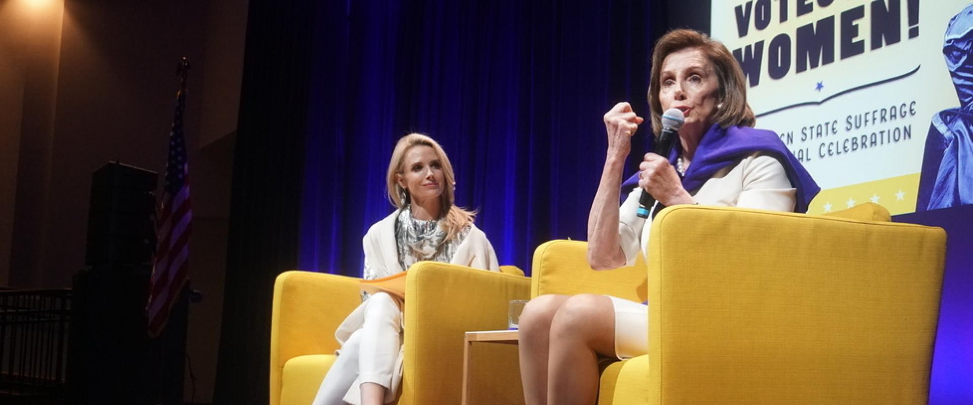 Congresswoman Nancy Pelosi joined California First Partner Jennifer Siebel Newsom in a moderated conversation commemorating California's ratification of the 19th Amendment at the California Museum in Sacramento, California.