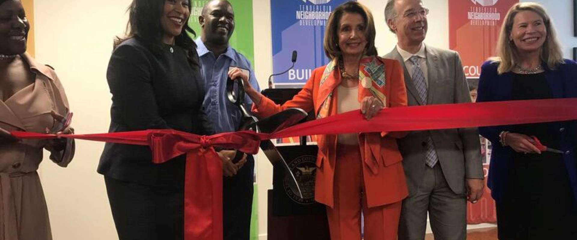Congresswoman Pelosi joins Mayor London Breed and residents for the grand re-opening of Sala Burton Manor in the Tenderloin. The renovation of this 89-unit public housing site for seniors and persons with disabilities under the management of community-bas