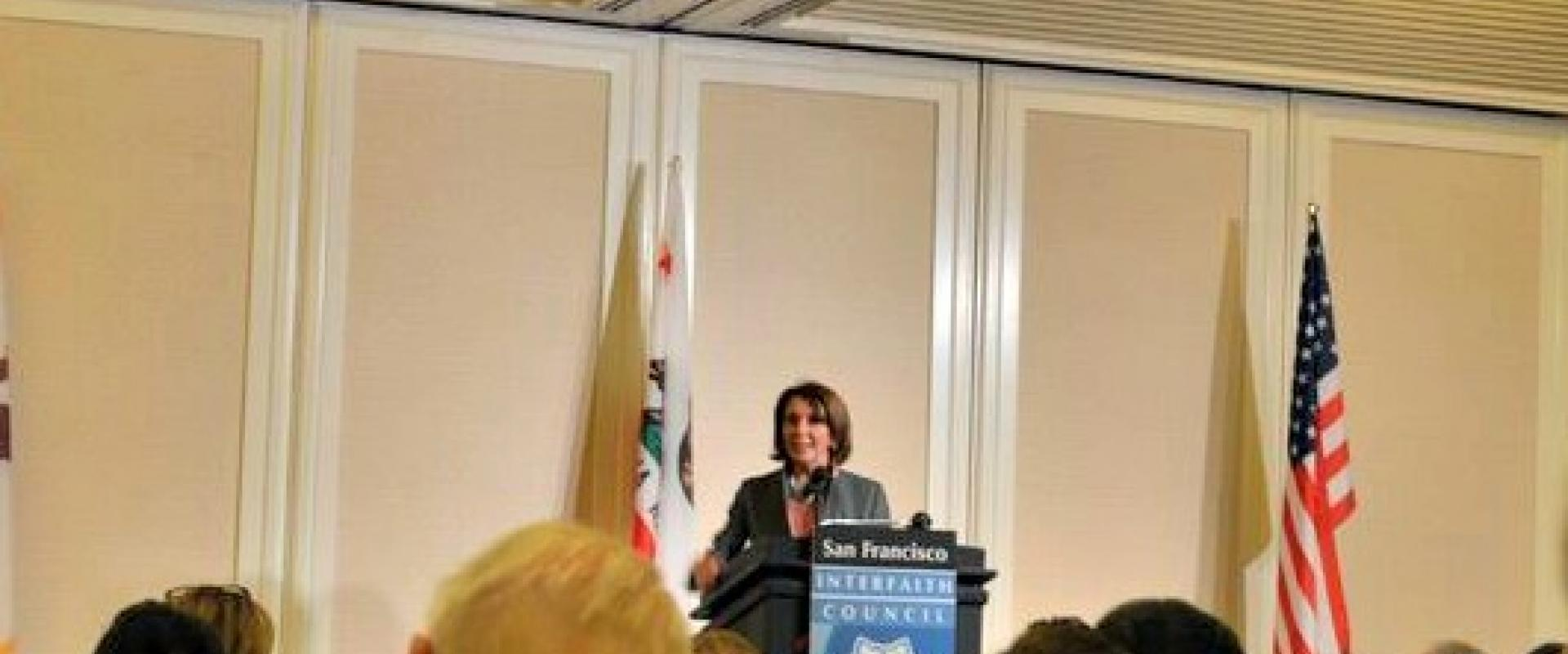 Congresswoman Pelosi joined the San Francisco Interfaith Council Thanksgiving Prayer Breakfast where she discussed the importance of interfaith values and social justice, including giving shelter to people facing the fear of deportation; giving comfort to