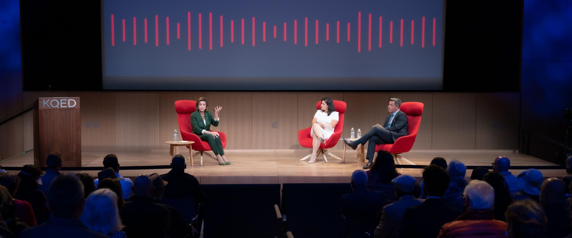 Congresswoman Pelosi joins Scott Shafer and Marisa Lagos for a moderated conversation with KQED's Live Fall program discussing the latest developments in Washington, 34 years representing San Francisco, her leadership in Congress, and advice for women in