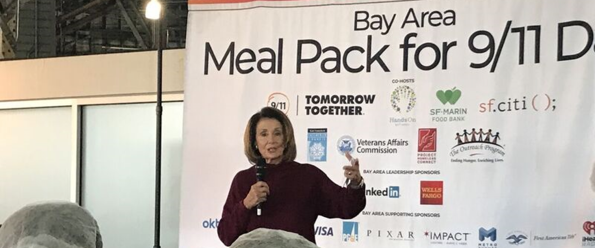 Congresswoman Pelosi joins 1,000 volunteers from around the Bay Area packing 300,000 meals for those in need as part of the 9/11 National Day of Service and Remembrance, transforming a day of tragedy into a day of public service.