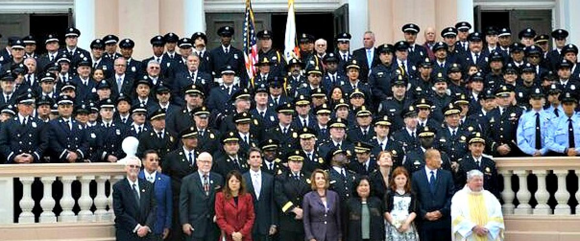Congresswoman Pelosi joins members of the San Francisco Police and Fire Departments at St. Monica's in the Richmond for the 69th Annual Police and Fire Memorial Mass. Marking the 15th anniversary of the September 11th terrorist attacks, we continue to mar