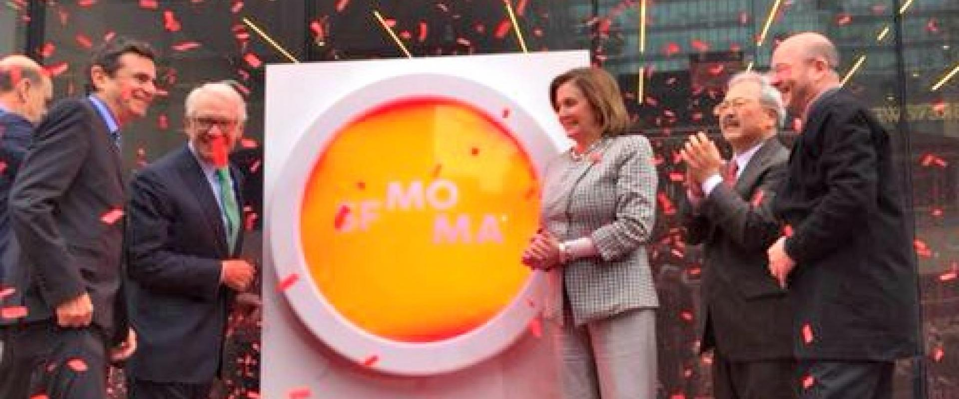Congresswoman Nancy Pelosi joins The San Francisco Museum of Modern Art as it opens its doors to the public following a three-year expansion that nearly triples its gallery space – affirming our city's place as a global leader of art and culture.