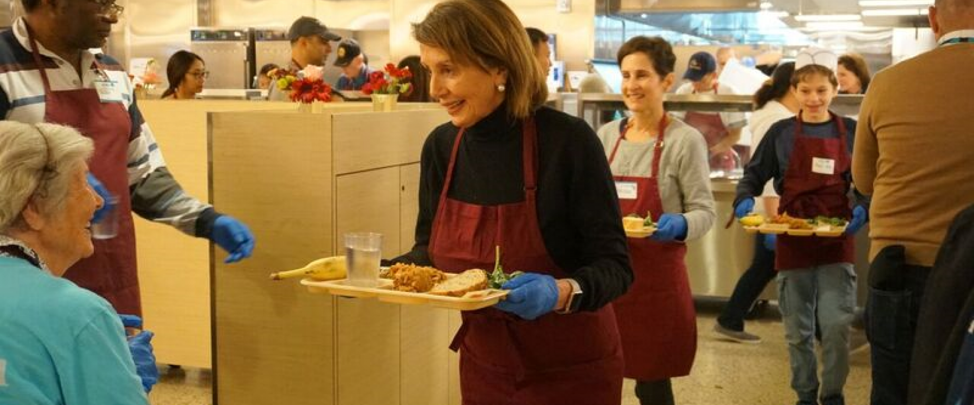 Congresswoman Pelosi and her family volunteered at St. Anthony's Dining Room in the Tenderloin on Wednesday serving meals to our community for the Thanksgiving holiday season.